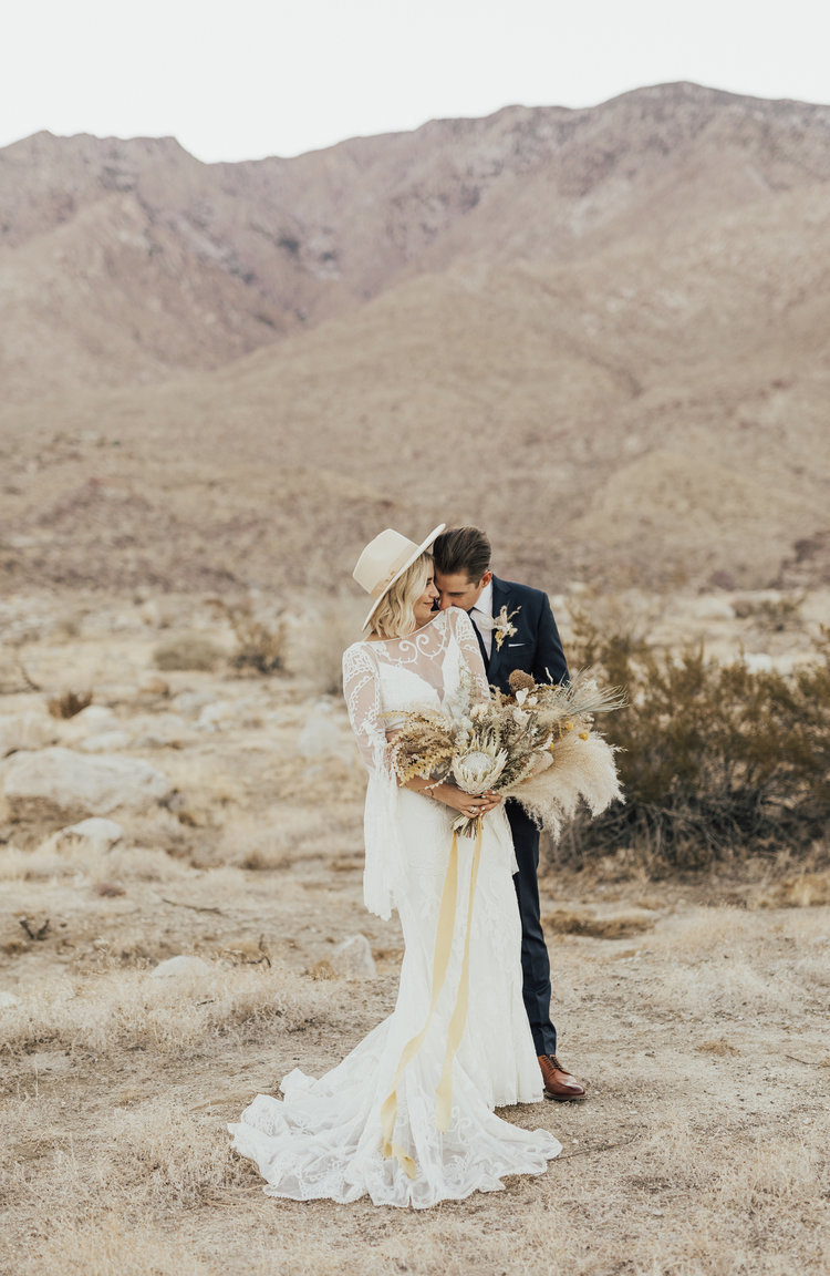 Palm Springs bohemian desert wedding
