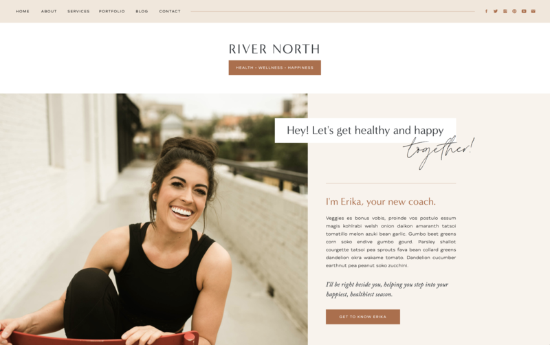 with grace and gold website template river north
