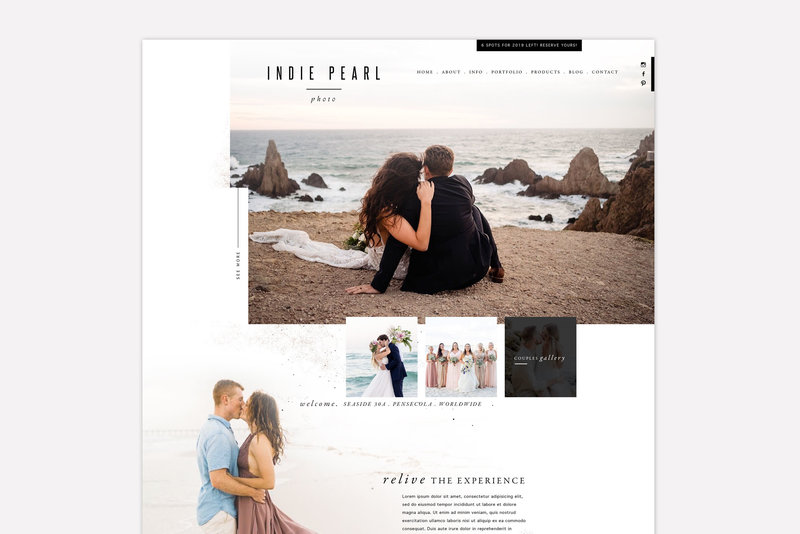 Branding and ShowIt Web Site for Photographer Florida