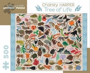 A Charley Harper puzzle full of animals.