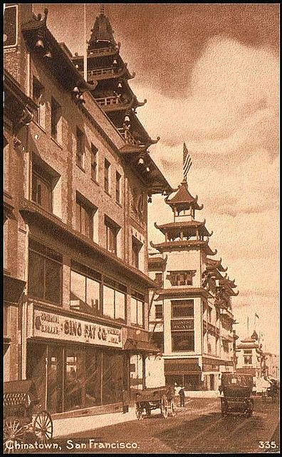San Francisco Chinatown Postcard circa 1920 _ Chinatown san francisco, San francisco photos, San francisco city