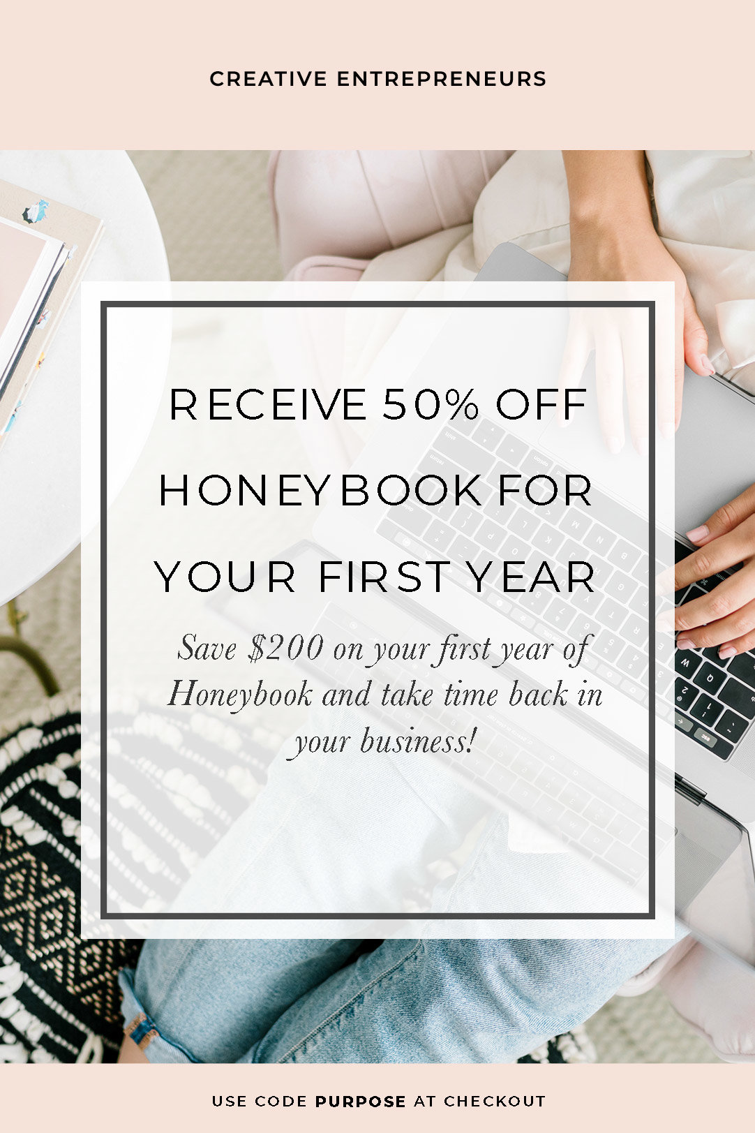 Honeybook is a client management systems that lets you automate your sales process. Use this 50% off code to receive $200 off your first year of Honeybook. Sign up for a trial below using the link and when you're ready, you'll automatically get 50% off! #weddingpros #weddingplanner #weddingphotographer #candicecoppola