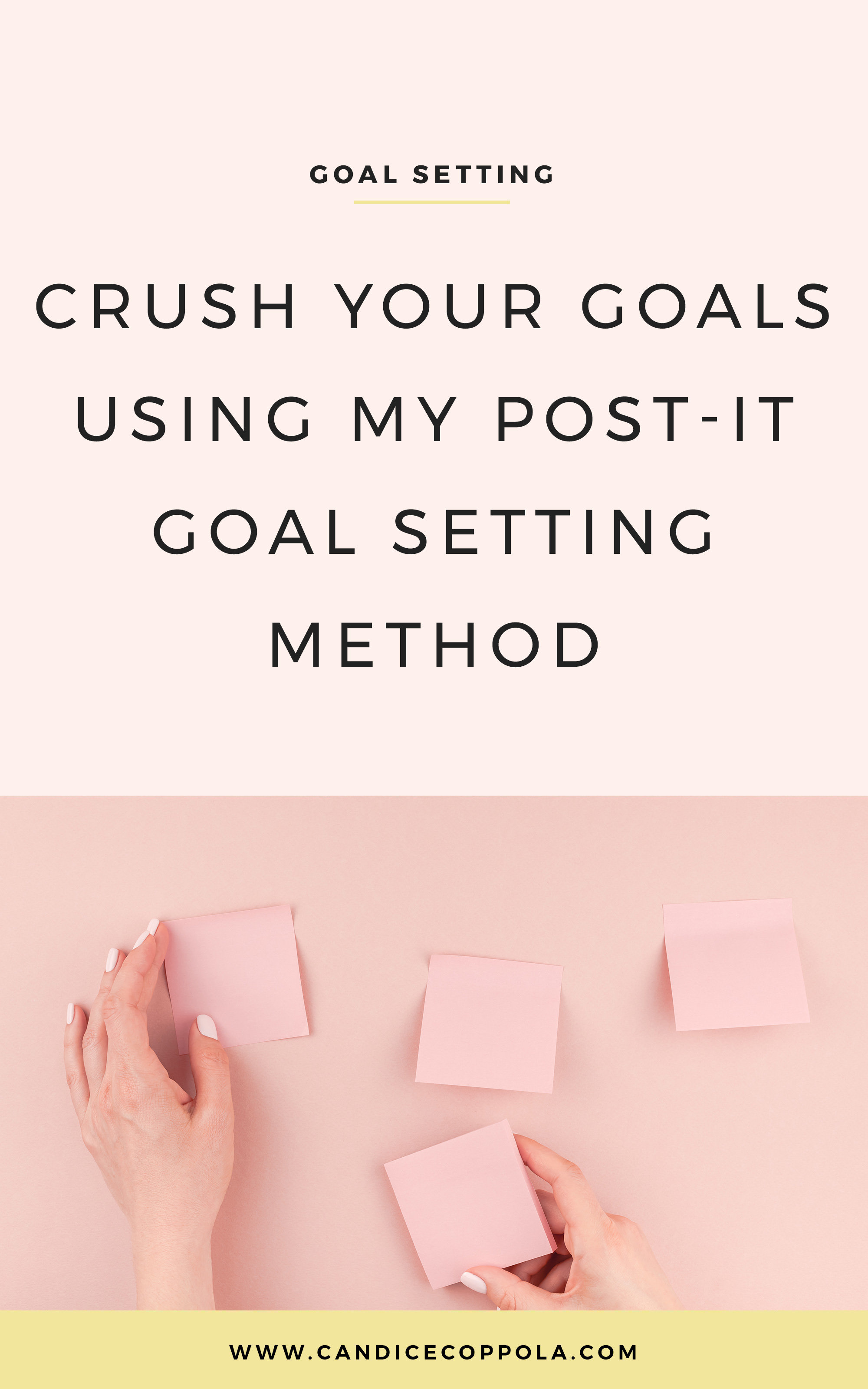 Learn my post-it goal setting method, including 2 free podcast episodes + workbook.