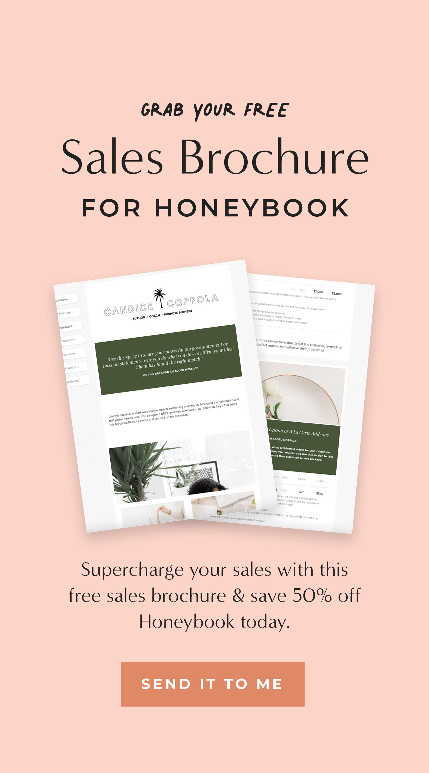 Honeybook promo code! Honeybook is a client management systems that lets you automate your sales process. Use this 50% off code to receive $200 off your first year of Honeybook. Sign up for a trial below using the link and when you're ready, you'll automatically get 50% off!
