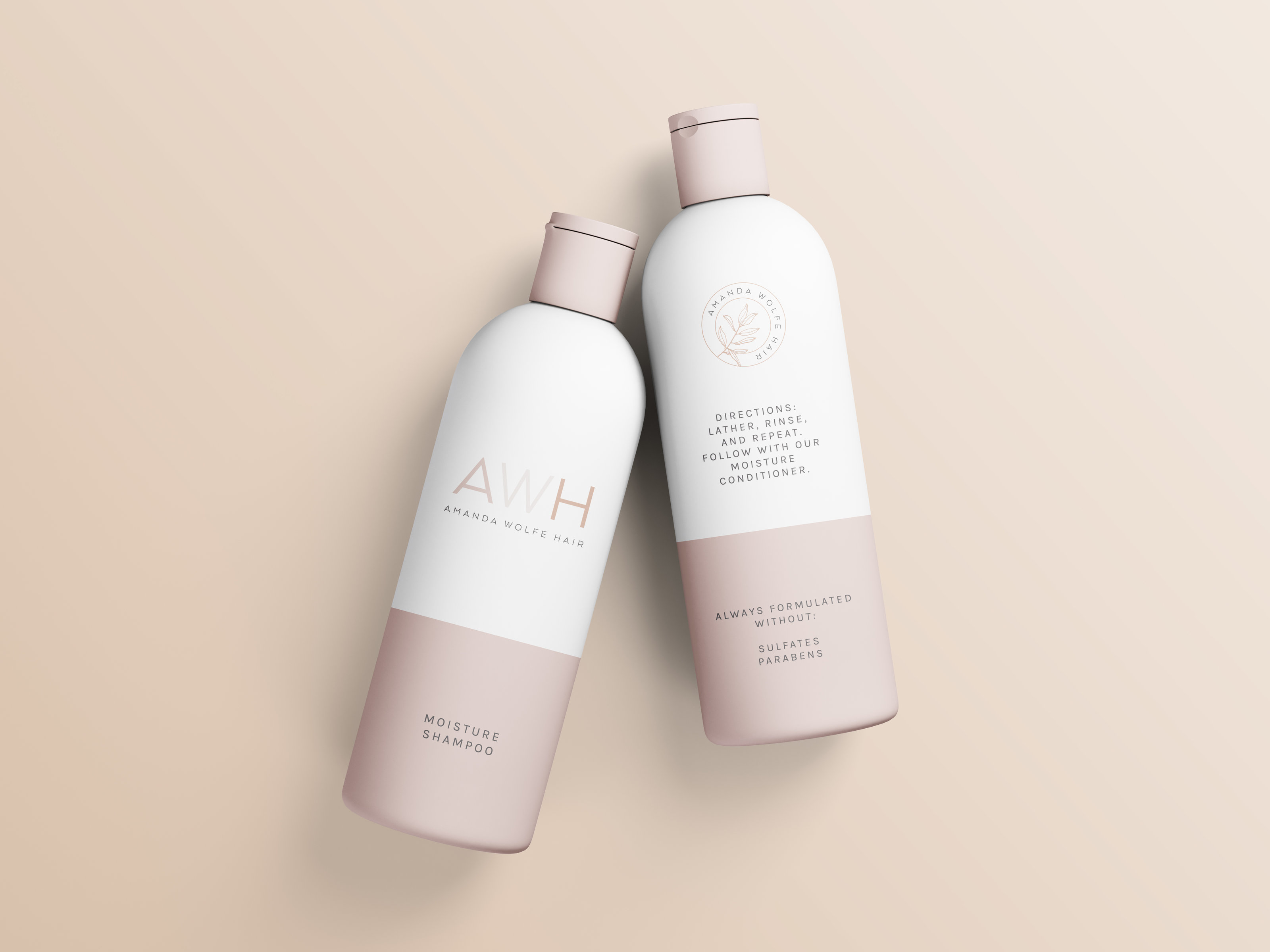 Brand Design for Amanda Wolfe Hair • Hair Stylist • ShowIt Website Design • Hair Stylist Branding