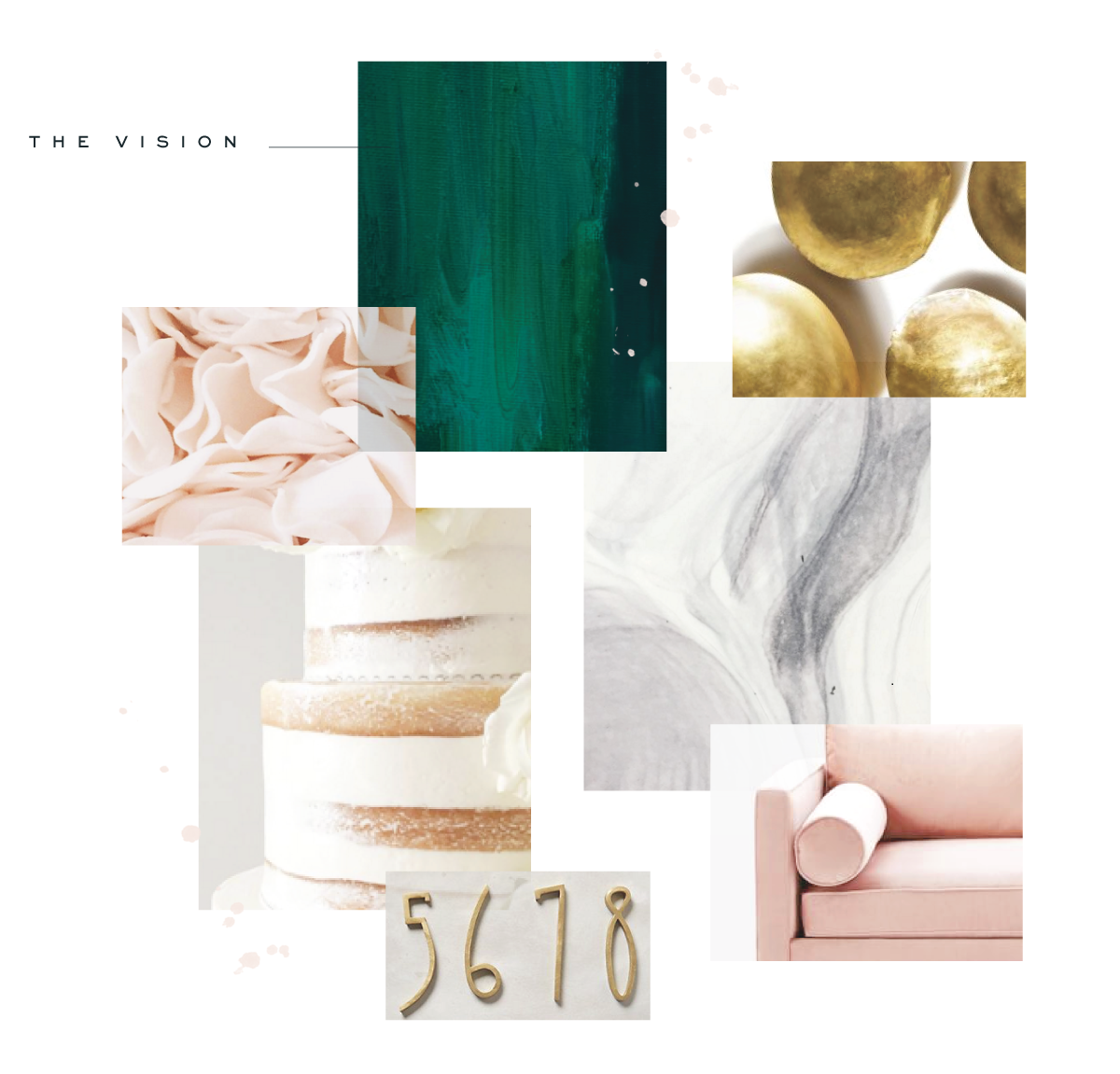 Modern Brand and Website Design - Modern Calligraphy Logo - Saffron Avenue - Brand Board, Inspiration Board, Modern Logo Design, Website Design, Website Layout