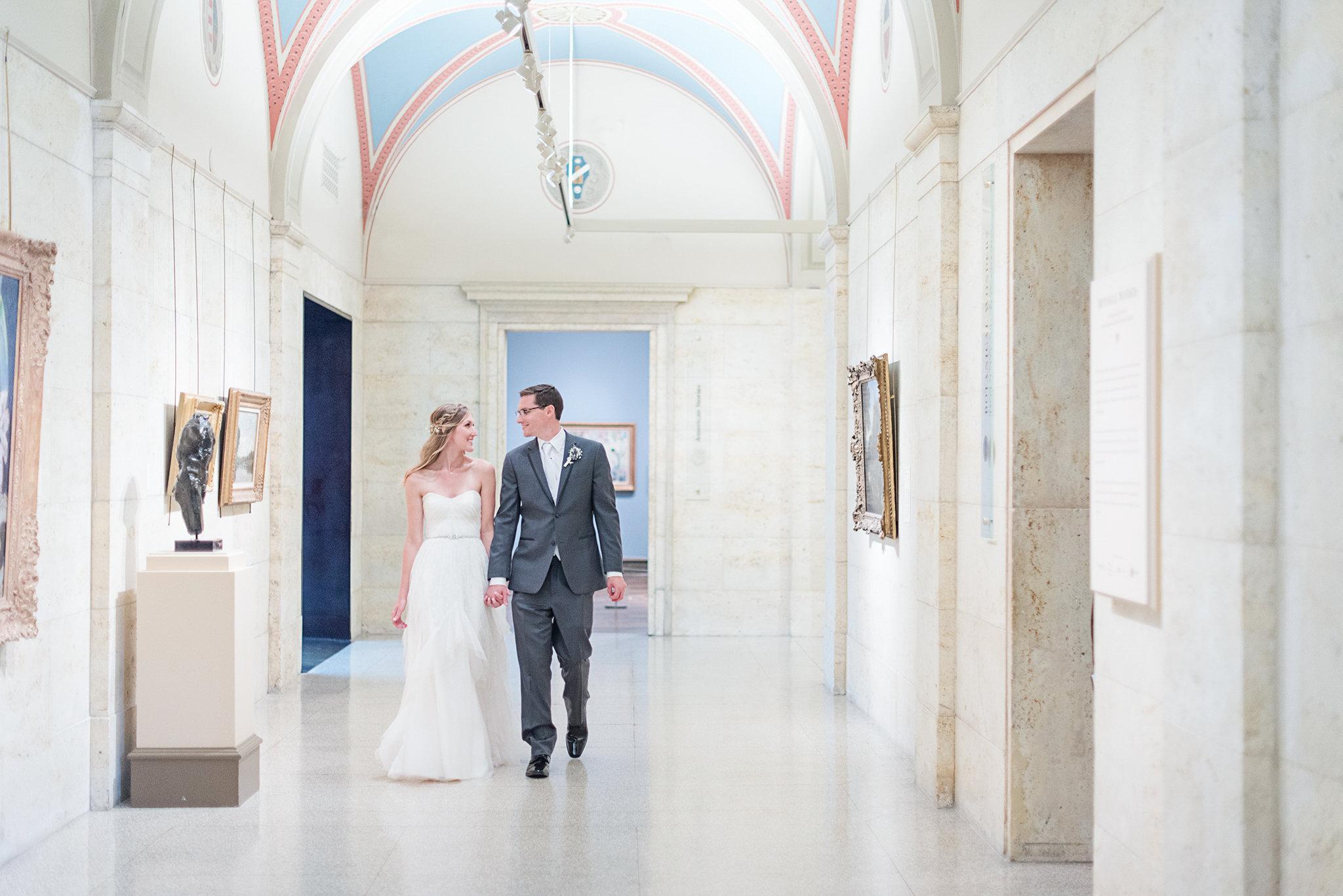 The Columbus Museum of Art Wedding Venue in downtown Columbus, Ohio.