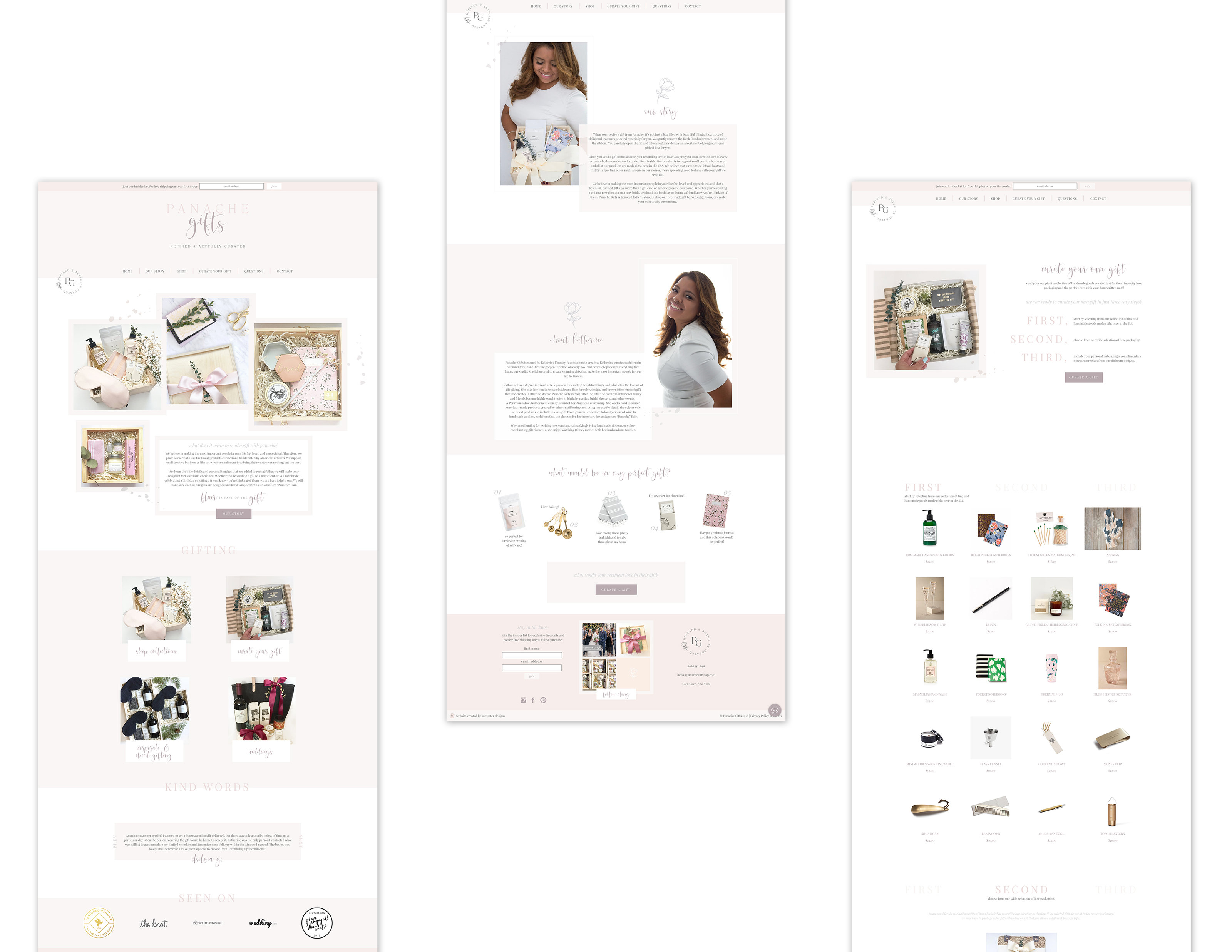 Branding & Web Design for Panache Gifts - Refined & Artfully Curated - Feminine Branding