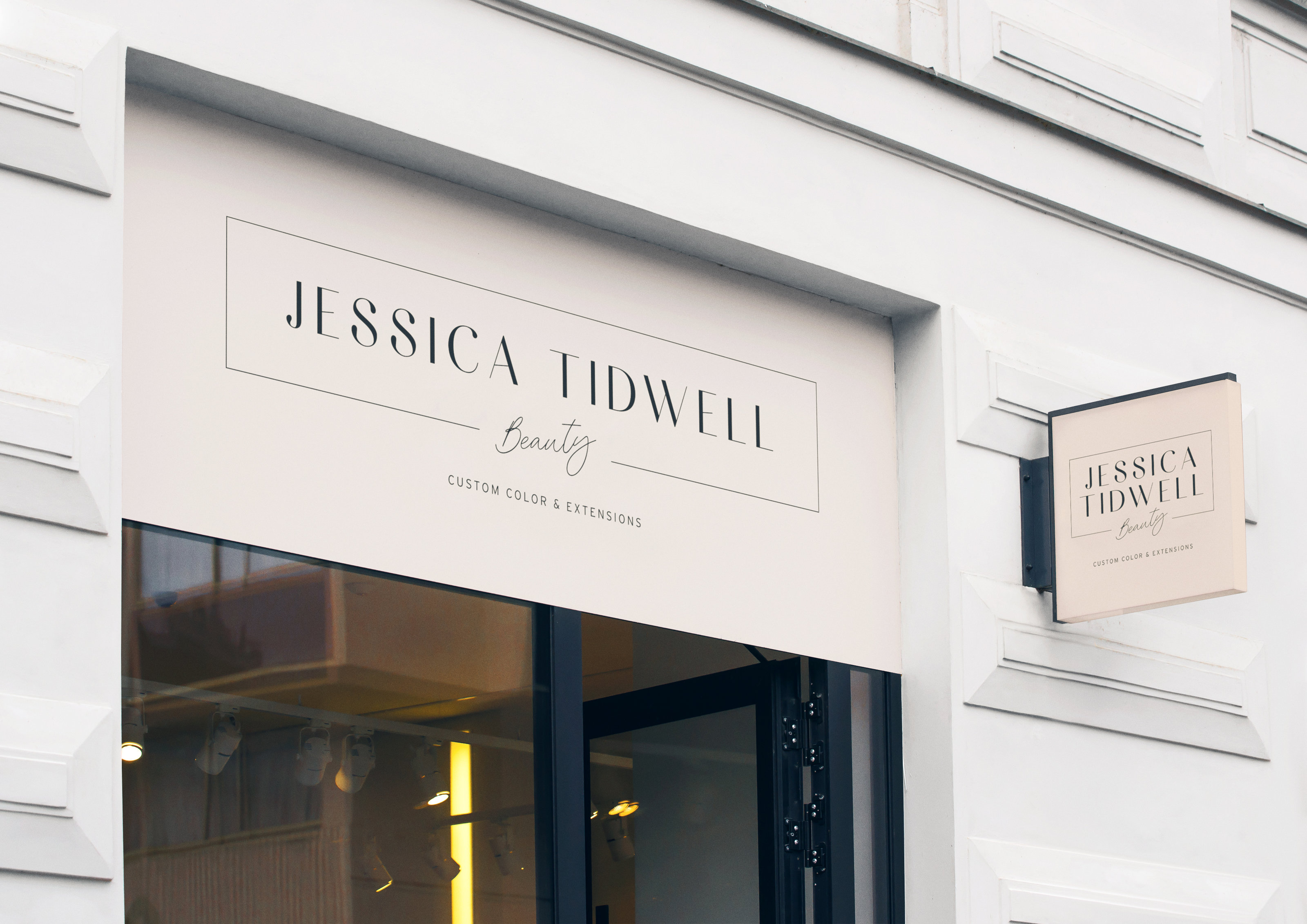 Brand Design for Jessica Tidwell Beauty • Hair Stylist & Makeup Artist • Creative Business Branding