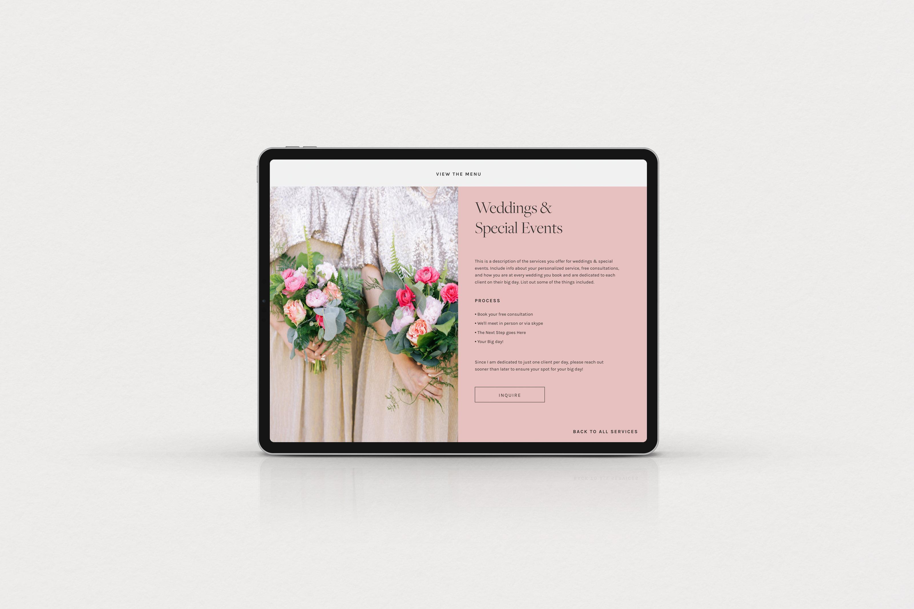 Branding & ShowIt Website design for Orange County Floral Designer