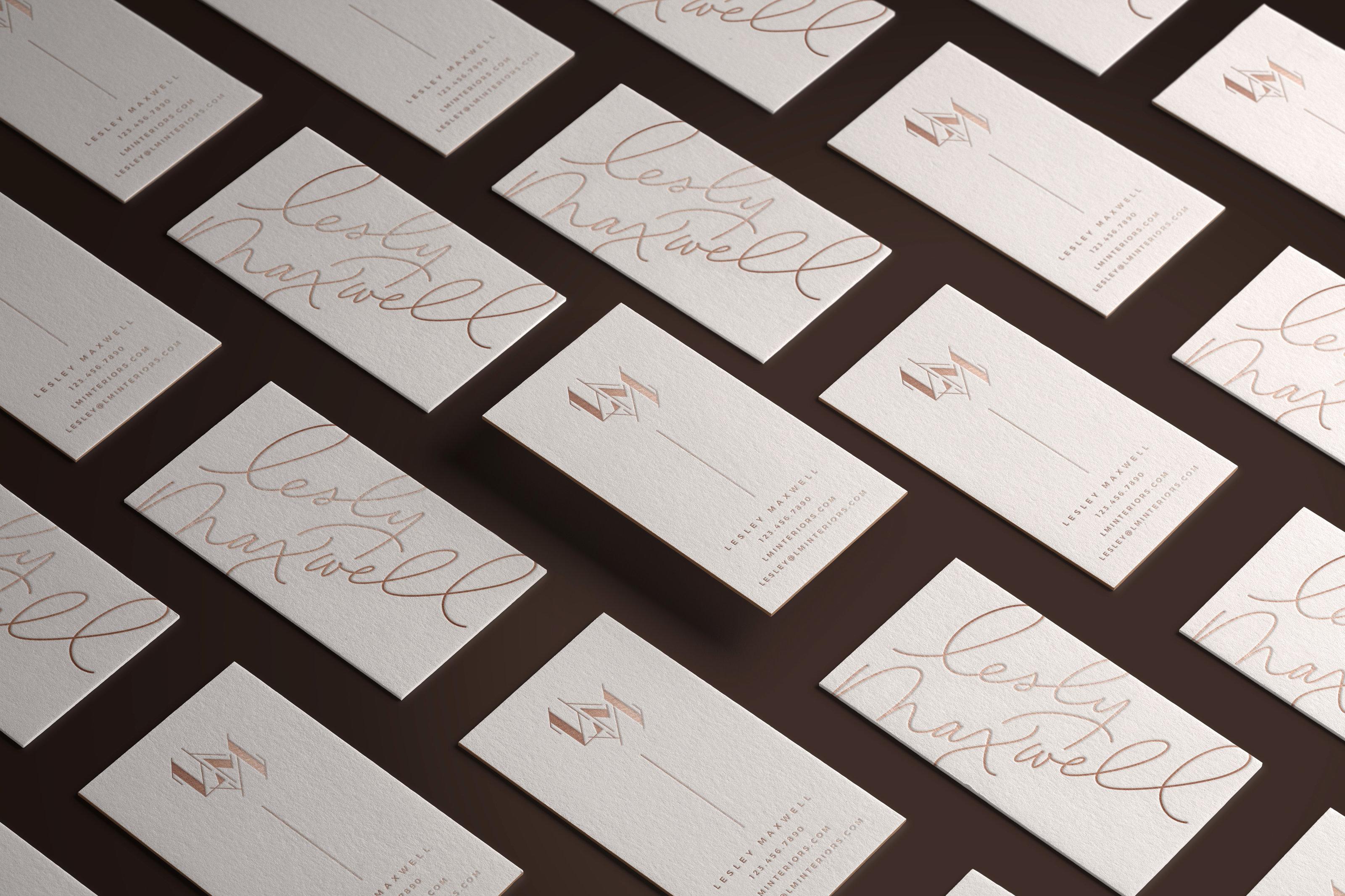 Modern Brand and Website Design - Modern Lettered Logo - Saffron Avenue - Brand Board, Inspiration Board, Modern Logo Design, Geometric, Website Design, Website Layout
