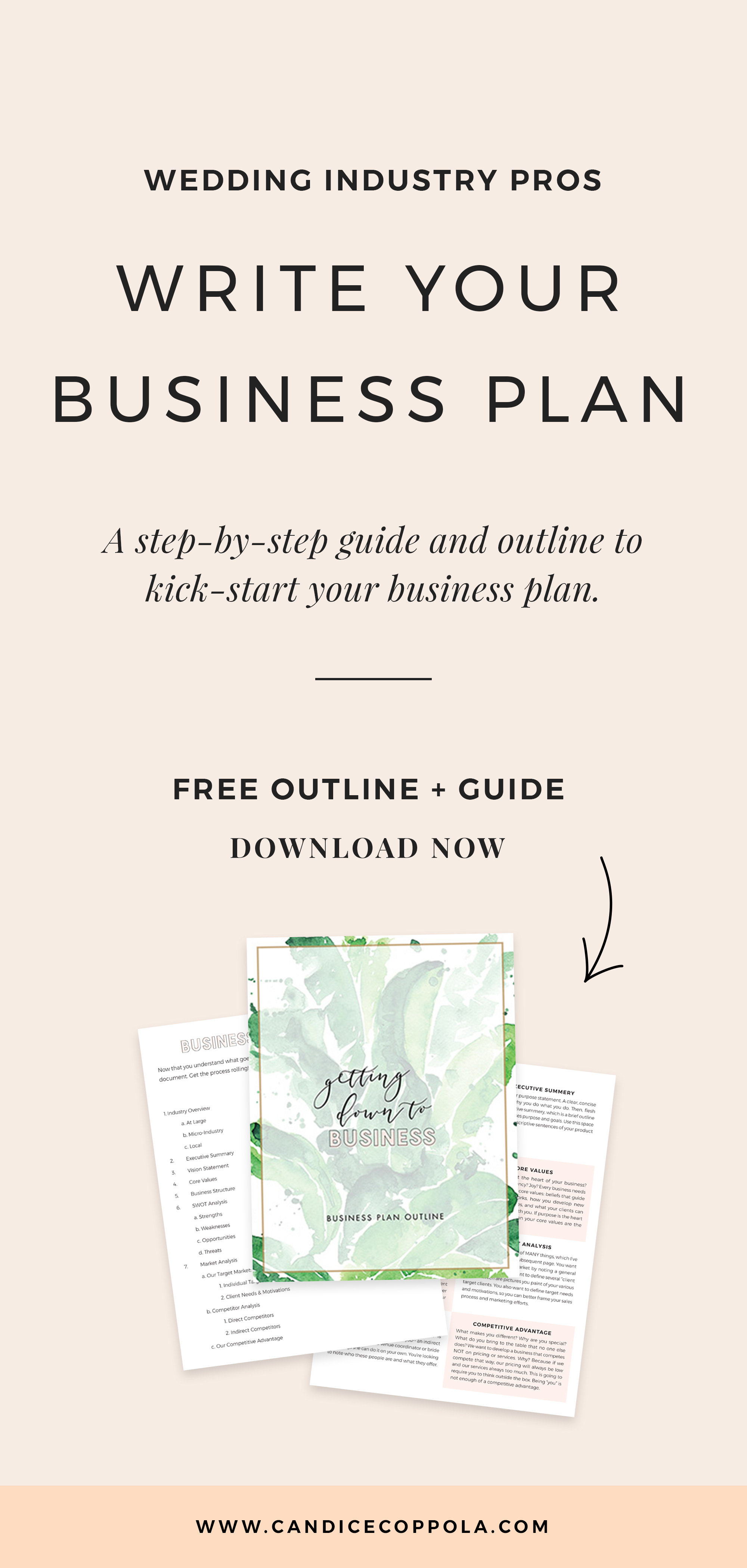 Free wedding planner business plan + guide.