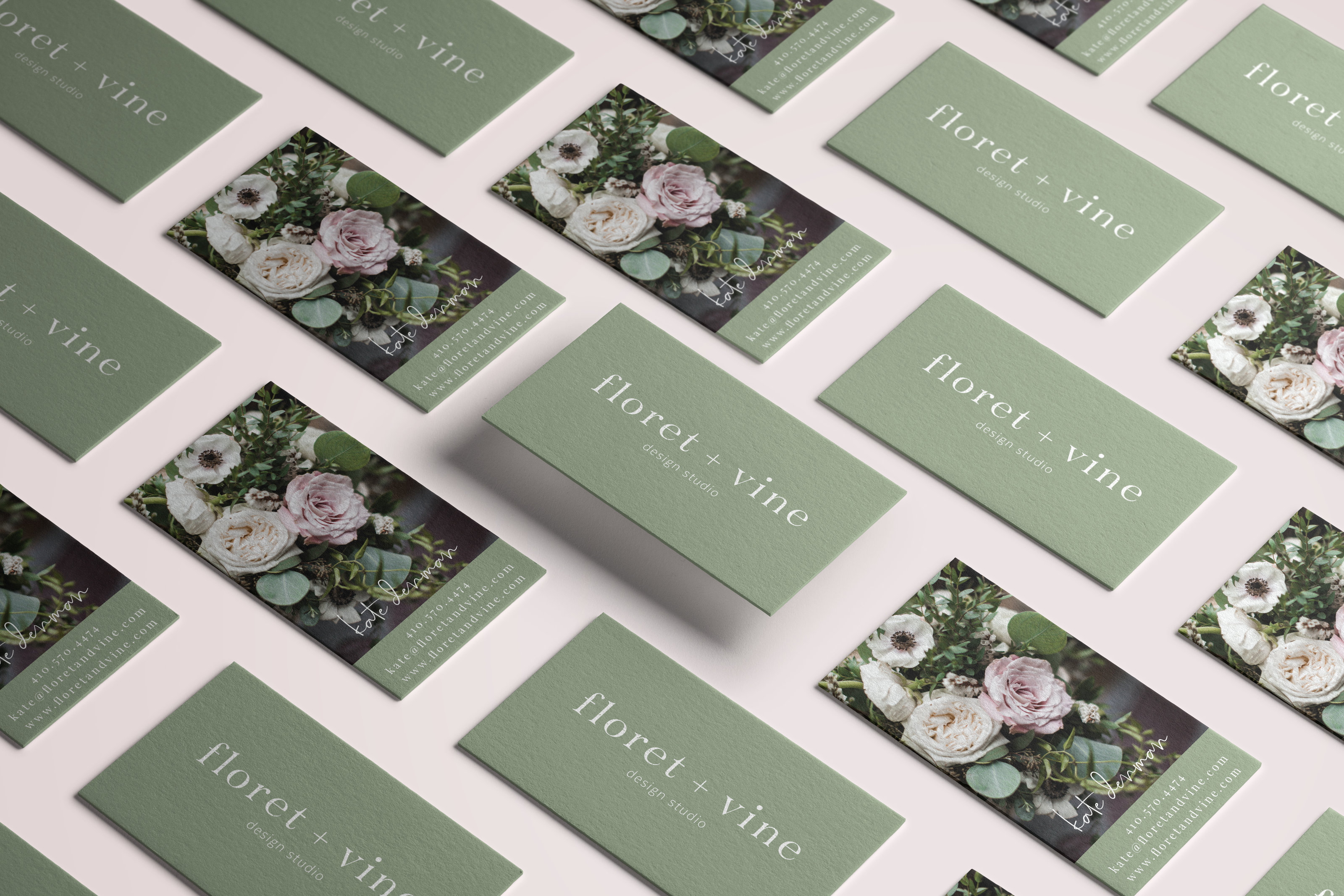 Brand & Web Design for Floret + Vine - Florist Branding, Floral Design Branding, Brand and Web Design for Florist