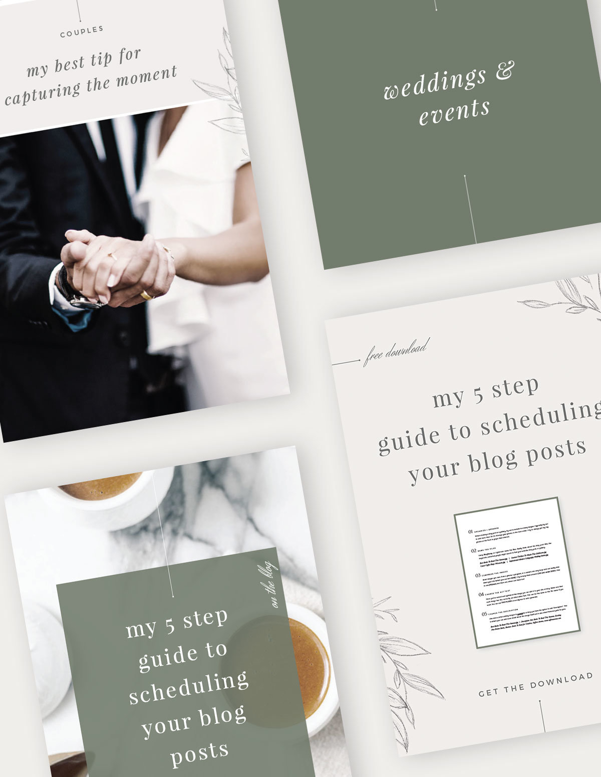 Easy-to-Edit Social Media Templates for Creative Businesses, Whimsical and Classic Social Media Templates, Saffron Avenue, www.saffronavenue.com