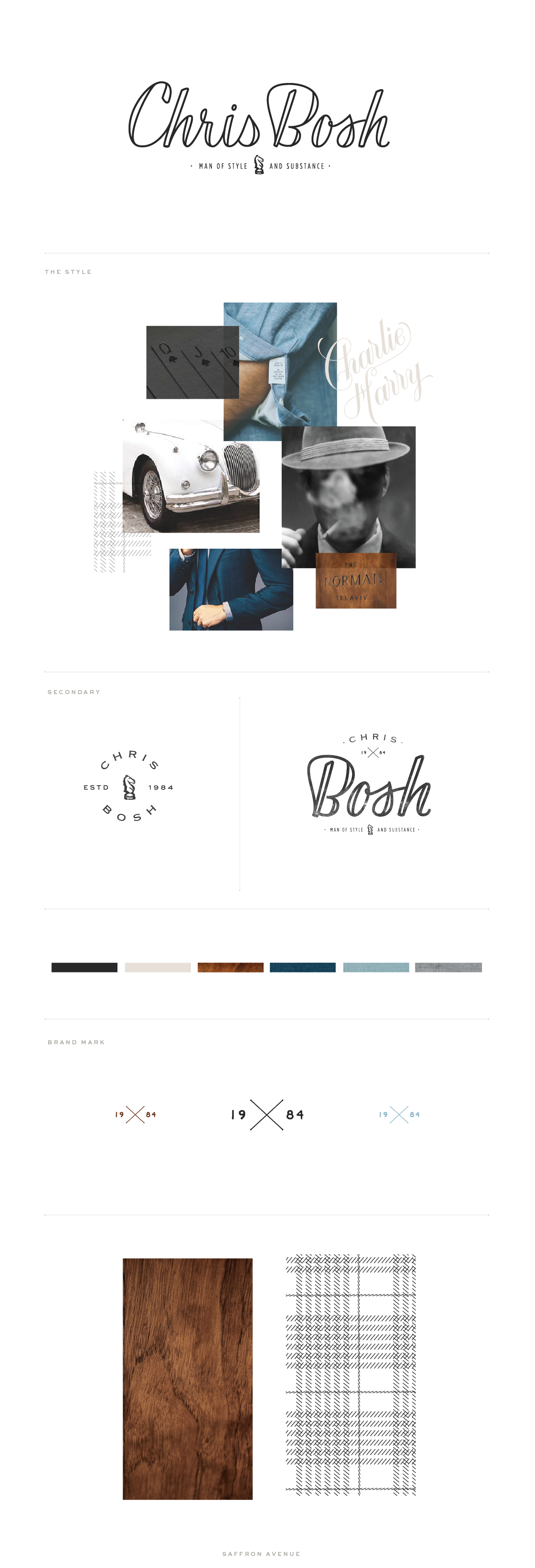 Modern Brand and Website Design - Modern Calligraphy Logo - Saffron Avenue - Brand Board, Inspiration Board, Modern Logo Design, Website Design, Website Layout