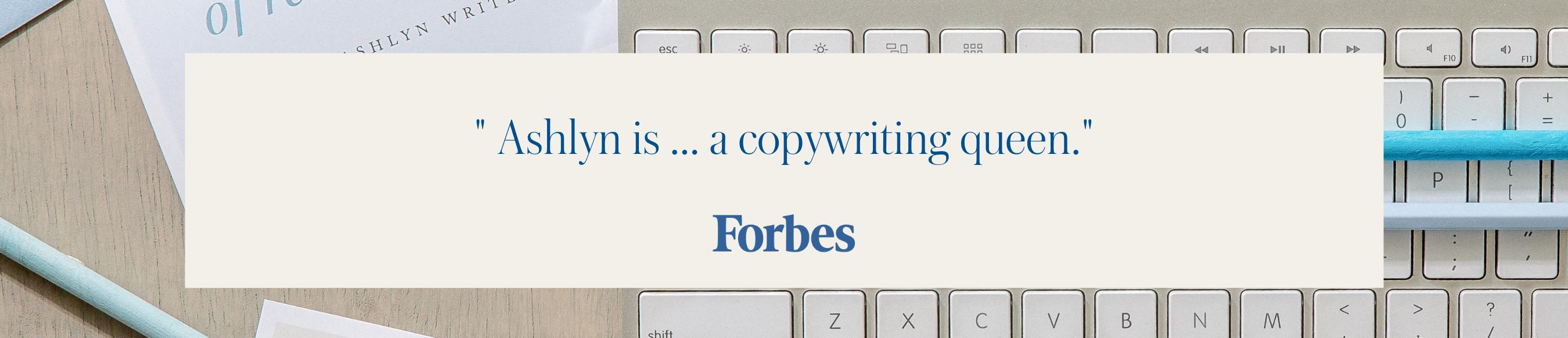 Ashlyn Writes Forbes
